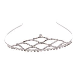 $enCountryForm.capitalKeyWord UK - 1pc Bride Crown Mesh-shaped Crystal Sweet Hair Accessories Hair Band Headdress Headwear for Wedding Pageant Engagment