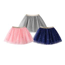 Tutu Wholesale Kids Dance Australia - Fashion Baby Kids Girls Princess Stars Sequins Party Dance Ballet Tutu Skirts tule skirt girls children skirt