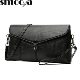 Crochet Handbags Wholesale Australia - SMOOZA Women Messenger Bags Sac A Main Soft Leather Shoulder Bags Women Crossbody Bag Lady Designer High Quality Handbags