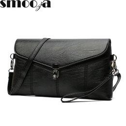 Designer Leather Canada - SMOOZA Women Messenger Bags Sac A Main Soft Leather Shoulder Bags Women Crossbody Bag Lady Designer High Quality Handbags