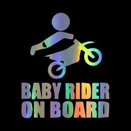 baby board window stickers Australia - Baby on Board Tail Rear Window Decal 3D Transparent Baby in car series car sticker dazzling color car decorative sticker