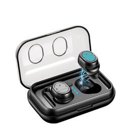 Free Wireless Headphones UK - TWS 5.0 true wireless Bluetooth headset sports earbuds stereo headset hands-free waterproof and sweat-proof running headphones