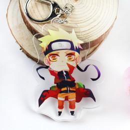 $enCountryForm.capitalKeyWord UK - Anime Naruto Acrylic Keychain Uchiha Obito Deidara Sasori Uchiha Itachi Cartoon Double-sided Pendant Keyring Figures Toy Dolls Bag keychain