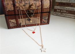 Rose Pendant Jewellery Australia - cecmic statement layered heart pendant necklace long jewelry jewellery handmade special style 2019 latest fashion necklace