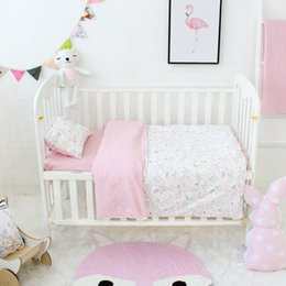 pure beds NZ - 3pcs set Pure Cotton Baby Bedding Set Elephant Pattern Baby Bed Linen For Girls Including Duvet Cover Pillowcase Flat Sheet