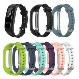 $enCountryForm.capitalKeyWord Australia - 8 Colors Soft silicone Strap For Huawei Honor Band 4 Running Version Sport Bracelet band for Huawei Band 3e Correa