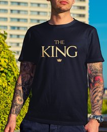 $enCountryForm.capitalKeyWord Australia - The King T-Shirt - Novelty Love Valentines Day Romantic Couple Anniversary Gift Funny free shipping Unisex Casual Tshirt top
