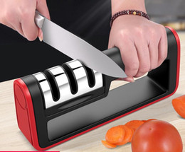 Wholesale Knives Sharpening Machine Stainless Steel Professional Kitchen Sharp Sharpener for A Knife Sharpen Tools Kitchen Ware Accessories DH0552