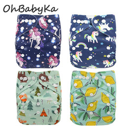 Free diapers online shopping - Pineapple Flamingo Baby Washable Cloth Diaper Cover Brand Animals Printed Baby Reusable Nappies for Baby Potty Training Pants