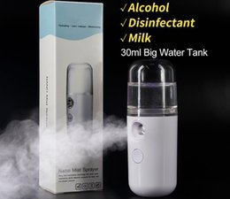 portable face steamer NZ - Mist Sprayer Mini 30ml Nano Portable Face Spray Facial Body Steamer Moisturizing Skin Care Humidifier Instruments DHL Free Shipping