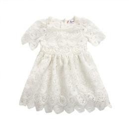 $enCountryForm.capitalKeyWord Australia - 2019 HOT SALE White Hollow Sweet Princess Dress Princess Wedding Party Prom Birthday Dress Lace Tutu Dresses For Baby Girl 0-24M