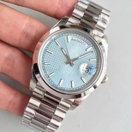 fda8bd7013be Relojes de lujo clásico 2813 movimiento automático 40 mm azul hielo esfera  de zafiro reloj para hombre fecha 316L correa de acero inoxidable reloj de  ...
