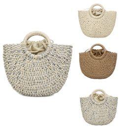 $enCountryForm.capitalKeyWord NZ - Women's Fashion Straw Woven Bag Straw Main Material Solid Color Handbag Satchels Wild Handbag Casual Versatile Wind Apr 16