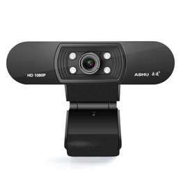 mega full video Canada - 1080P Full HD Pc Webcam USB Mini Portable Web Cam With Microphone for Live Broadcast Video Conference Computer Camera