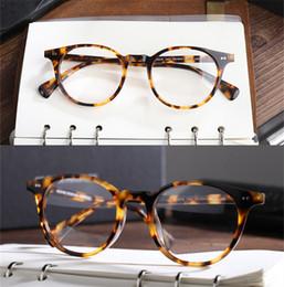 77b20e67df Retro Vintage Oval Round Eye Glasses Frames oliver peoples Delray Women Men  Eyeglasses Spectacle Eyewear Frames For Myopia Prescription Lens