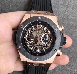 Ingrosso 2019 orologio per uomo 5 colori scegliere 411.NM.1170 movemnet 7750 45mm orologio sportivo cinturino in gomma orologio automatico HB061302