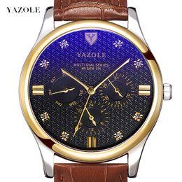$enCountryForm.capitalKeyWord Australia - Yazolequartz Wrist Watch Six Needle Week Calendar Man Wrist Watch More Function Quartz Watch Waterproof Male Surface Leisure Time