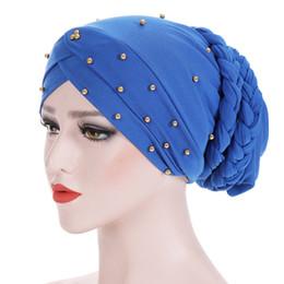 Braiding Hair Cap NZ - Women Elastic Bead Cross Cotton Braid Turban Hat Scarf Chemo Beanies Cap Hijab Headwear Head Wrap Hair Accessories