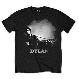$enCountryForm.capitalKeyWord UK - Bob Dylan 'Guitar & Logo' T-Shirt - NEW & OFFICIAL! Men Women Unisex Fashion tshirt Free Shipping black