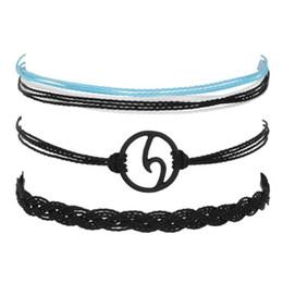 $enCountryForm.capitalKeyWord Australia - Vintage Multilayer Wave Bracelets Set For Woman Fashion Weave Rope Chain Charm Bracelet Adjustable Girls Gifts BB59