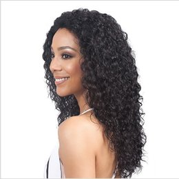 synthetics 16 inch wigs hair Australia - 16 Inch Ombre Black Color Medium Wigs Red Afro Kinky Curly Synthetic Wig for Women Heat Resistant For African America Hair Wigs