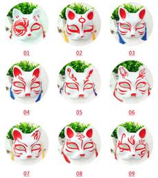 Pvc Plastic Full Face Masks Australia - Cat Fox Shape Masks Japanese PVC Fox Party Masks Masquerade Cosplay Party Supplies Plastic Half Face Halloween Mask GGA2049