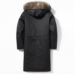 rabbit fur pillows UK - Long Winter Jacket Men Parka Real Fur Coat Men Natural Rex Rabbit Fur Liner Raccoon Fur Collar Thick Parkas 2020 4998 KJ3582