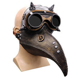 Discount doctors mouth mask Punk Bird Mouth Doctor Masks Tide Plague Crow Mask Halloween Retro Headgears High Quality Hot Sales