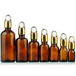 $enCountryForm.capitalKeyWord Australia - Cosmetic Container Glass Essential Oil Bottle Dark Brown Dropper Bottle Flower Basket Cover Empty Refillable Perfume Vial 20 pcs