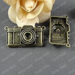 Gold Camera Pendant Australia - 10pcs 29*48MM Antique bronze tibetan camera charms vintage metal pendants diy necklace bracelet earring jewelry making material