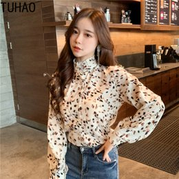 1bbe127622f TUHAO 2019 Spring Summer Print Blouse Woman Long Sleeve Shirts Sweet Style  Office Lady Women's Blouses Shirt Female Casual Tops