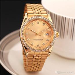$enCountryForm.capitalKeyWord NZ - Relogio Masculino Mens Watches Luxury Dress Designer Fashion Black Dial Calendar Gold Bracelet Folding Clasp Master Male 2019 Gifts Couples