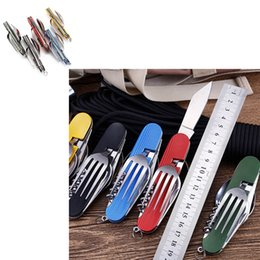 $enCountryForm.capitalKeyWord Australia - Multifunctional Folding automatic Combination knives pocket Hunting Camping Knife Gift Fruit Knife Accessories Portable Outdoor Gadget