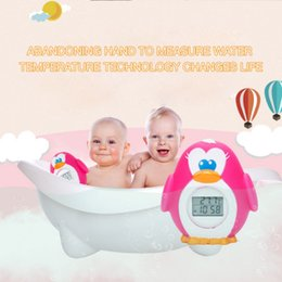 led baby monitor UK - Led Display Baby Kid Penguin Water Shower Thermometer LED Display Water Shower Thermometer Flow Water Temperture Monitor 2019