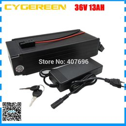 36v lifepo4 battery charger UK - High quality 500W lifepo4 battery 36v 13ah electric bike battery 36V rear rack battery with BMS and 43.8V 2A charger