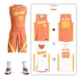 0ba845ef5b37 Reversible Men Youth Kids Basketball Double-sided Suit Shirt Print  Sportwear Team Game Set Custom Basketball Jersey Clothes Uniform