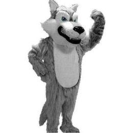 $enCountryForm.capitalKeyWord UK - New Profession Grey Wolf Mascot Mascot Costumes Halloween Cartoon Adult Size Long Plush Wolf Aniaml Fancy Party Dress free shipping