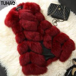 $enCountryForm.capitalKeyWord Australia - TUHAO 2018 Winter Women Faux Fur Coat Women's Fox Fur Vest Fashion Faux Coat Leisure Plus Size 3XL 4XL Female Long Vest FR-1