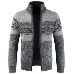 Wholesale vintage thick sweater for sale - Group buy Plus Size XXXL Mens Sweater Vintage Designer Knitted Sweatercoat Men European Style Man Sweaters Coat Pattern Cardigan Wool A384