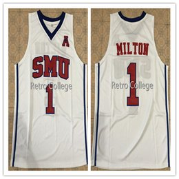 b730bc56a28 2018 Newst #1 Shake Milton SMU College Top Basketball Jersey All Size  Embroidery Stitched Customize any name and name XS-6XL vest Jerseys NC