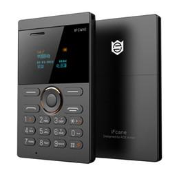 Qwerty Mobile Phones Australia - iFcane E1 FM Radio MP3 Vibration Bluetooth Ultra thin Card Mini Small Mobile Phones Children Stendent Suport TF Card Russian Key
