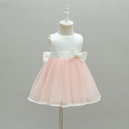Bow Old Australia - Birthday Baby Girl Dresses 1 Years Old Pink Bow Party Wear Vestido 2019 Toddler Baby Girls Clothes For 0-24 Month Rbf174022 Y19061001