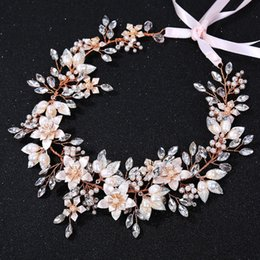 $enCountryForm.capitalKeyWord Australia - Slbridal Wired Rhinestone Crystal Freshwater Pearls Wedding Headband Bridal Hair Vine Hair Accessories Bridesmaids Women Jewelry SH190713