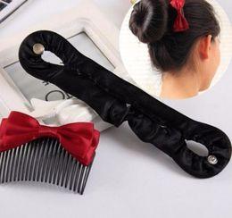 $enCountryForm.capitalKeyWord Australia - Hot 1pc Black Braiding Tool Hair Roller Twist Styling Bun Maker Locks Weaves Women Girls Band Accessories