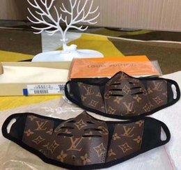 Großhandel Designer Anti-Staub-Baumwolle Mund-Gesichtsmaske Schwarz Schutzmasken Unisex Facemask Mann Frau trägt schwarze Mode Luxus Facemask NO Box
