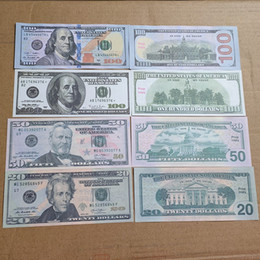 Wholesale movie size online – design Prop euro Money Banknote Fake USD Play Money Normal Size Dollar Banknote Children s Creative Gift Movie Money