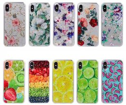 Discount sequin phone covers - Foil Confetti Flower Soft TPU Case For Huawei P30 Pro Mate 20 Nova 3 3i 4 P20 Lite Fruit Sequin Flake Luxury Floral Rose