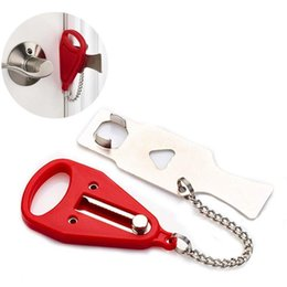 Wholesale Portable Safety Lock Kid Safe Security Door Lock Hotel Portable Latches Anti-theft Locks Home Tools WY372Q