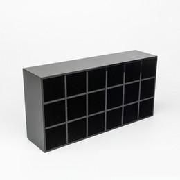 Box Jewelry Storage Organizer Black Australia - 12 Luxury 18 grids black Acrylic storage lipsticks holder Make-up brush Storage Case Jewelry fashion Organizer for desktop VIP gift With box