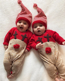 $enCountryForm.capitalKeyWord Australia - Newborn Baby Boys Girl Christmas Rompers Long Sleeve Deer Romper Jumpsuit Sleepwear Party Costume Baby Clothes
